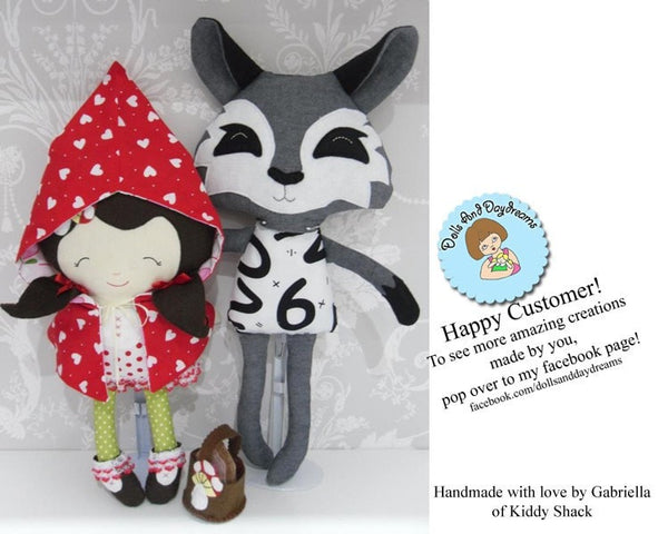 Little Red and Wolf Sewing Pattern - Dolls And Daydreams - 5
