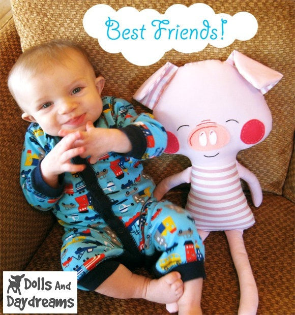 Pig Sewing Pattern - Dolls And Daydreams - 3