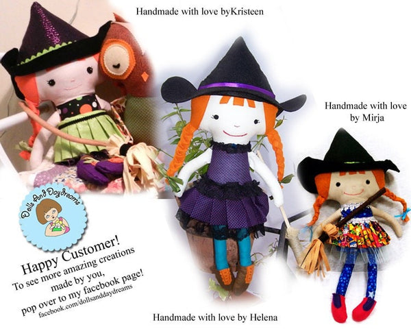 Witch Sewing Pattern - Dolls And Daydreams - 5