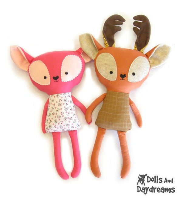 Rudolph Reindeer Sewing Pattern - Dolls And Daydreams - 2