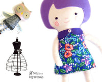 Retro Doll Dress Sewing Pattern - Dolls And Daydreams - 1