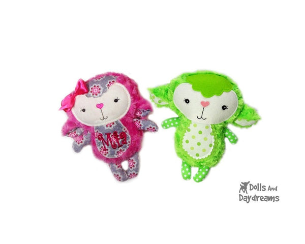 Baby Lamb Sewing Pattern - Dolls And Daydreams - 2