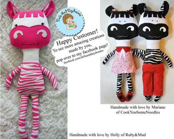 Horse and Zebra Sewing Pattern - Dolls And Daydreams - 5