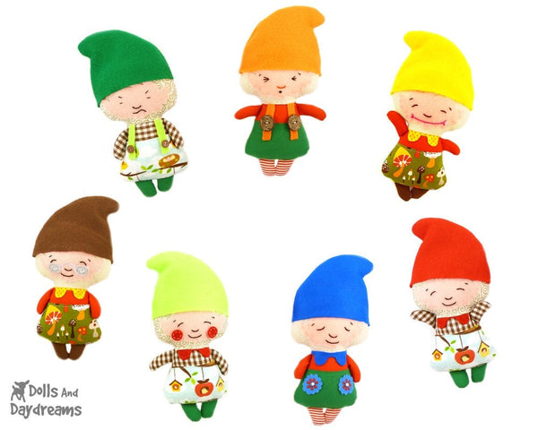 Snow White and The Seven Dwarfs Sewing Pattern - Dolls And Daydreams - 6