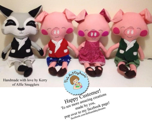 Three Little Pigs and Big Bad Wolf Sewing Pattern - Dolls And Daydreams - 8
