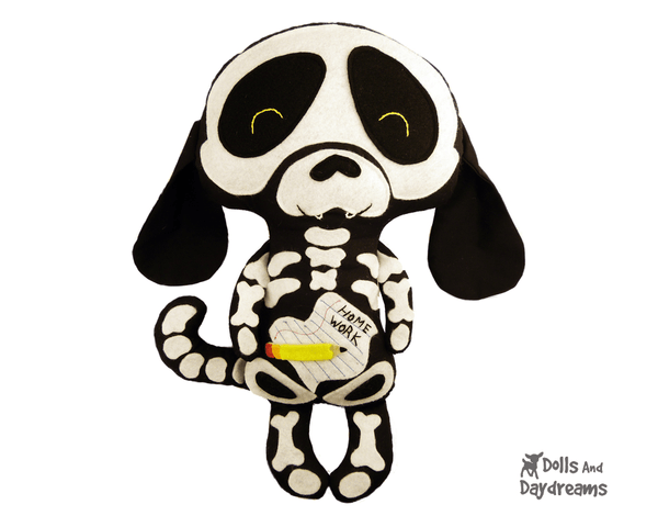 Skeleton Dog Sewing Pattern - Dolls And Daydreams - 1