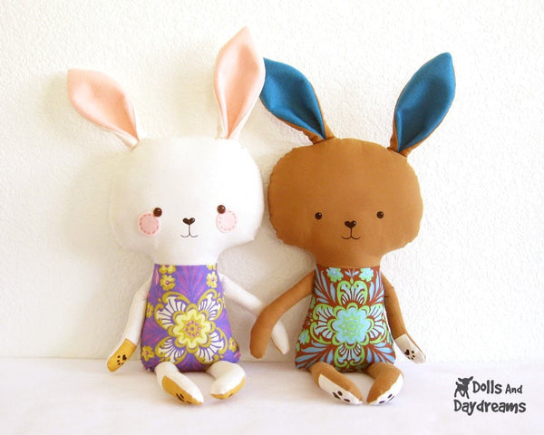 Bunny Rabbit Sewing Pattern - Dolls And Daydreams - 2