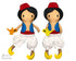 ITH Aladdin doll Pattern machine embroidery by dolls and daydreams