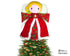 Guardian Angel Christmas tree topper Sewing Pattern - Dolls And Daydreams - 1