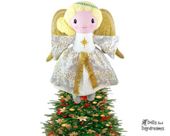Embroidery Machine Guardian Angel Tree Topper Pattern