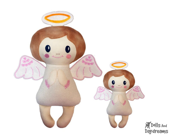 Embroidery Machine Angelic Angel Pattern - Dolls And Daydreams - 4