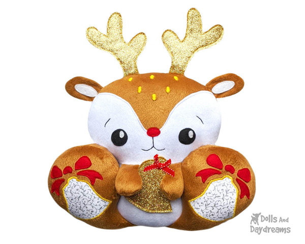 BFF Big Footed Friends Reindeer Sewing Pattern DIY Cute Plush Toy PDF by Dolls And Daydreams