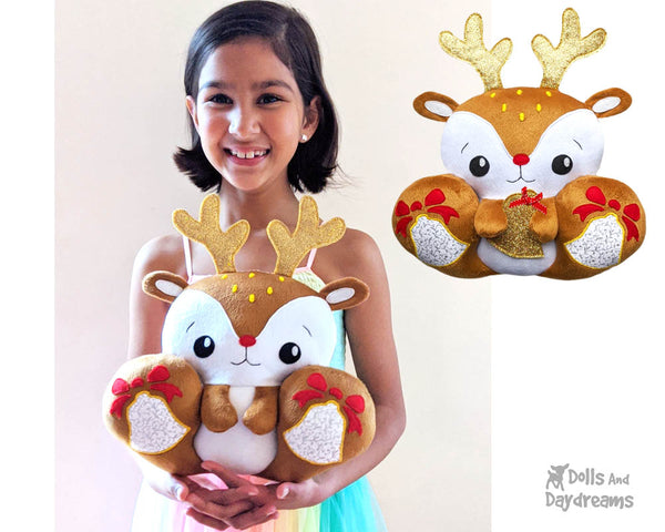 BFF Big Footed Friends Reindeer Sewing Pattern DIY Cute Kawaii Plush Toy PDF by Dolls And Daydreams