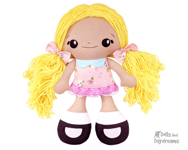 Big Foot Best Friends BFF Beauties Doll Sewing Pattern Kawaii Cute Yarn hair Girl  Cloth Dolly by Dolls And Daydreams