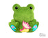 BFF Big Footed Friends In The Hoop Machine Embroidery In the hoop Frog DIY Kawaii Cute ITH Cute Plush Toy Toad by Dolls And Daydreams