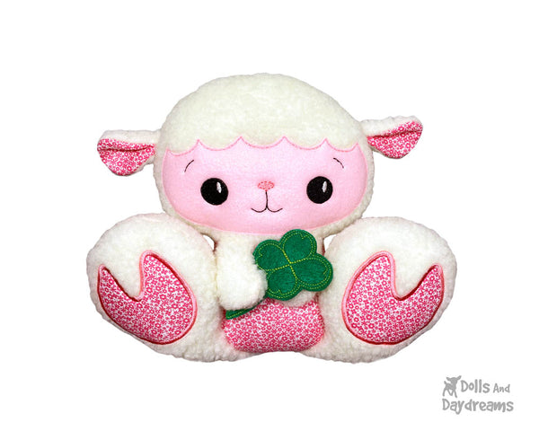 ITH Machine Embroidery BFF Big Footed Friends Lamb Pattern DIY In The Hoop Sheep Kawaii Cute  by Dolls And Daydreams