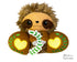 BFF Big Footed Friends In The Hoop Machine Embroidery Sloth DIY Kawaii Cute ITH Plush Toy Softie by Dolls And Daydreams