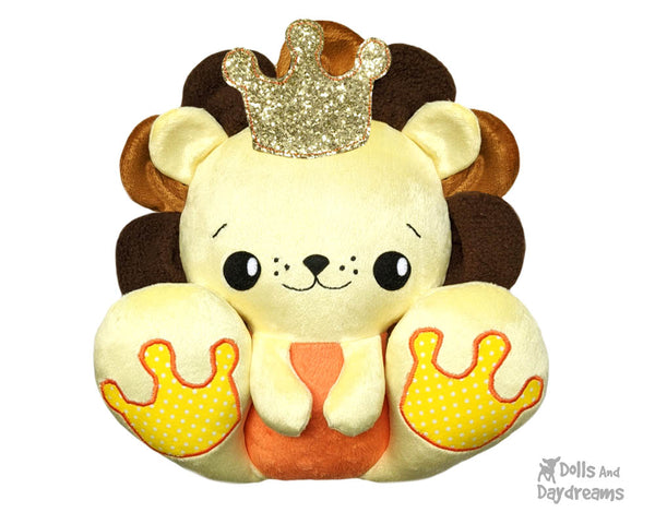 BFF Big Footed Friends Lion PDF Sewing pattern DIY Kawaii Cute Cute Plush Teddy Toy by Dolls And Daydreams