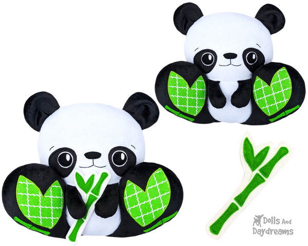 BFF Big Footed Panda Bear PDF Sewing pattern DIY Kawaii Cute Cute Plush Teddy Toy by Dolls And Daydreams