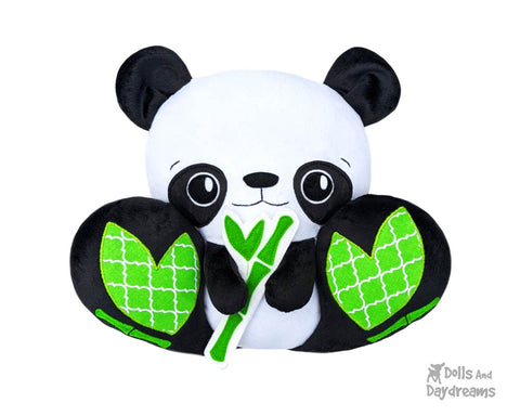 Panda Bear Plush Toy PDF Sewing Pattern by Dolls And Daydreams