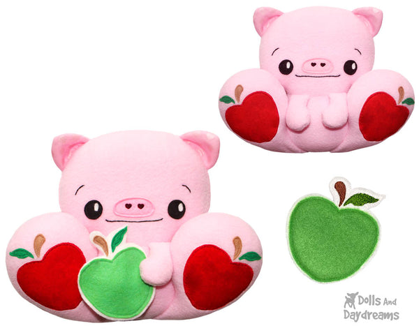 Big Foot Friend Piggy Pig PDF Softie Sewing Pattern Kawaii Cute DIY Plush Soft Toy by Dolls And Daydreams