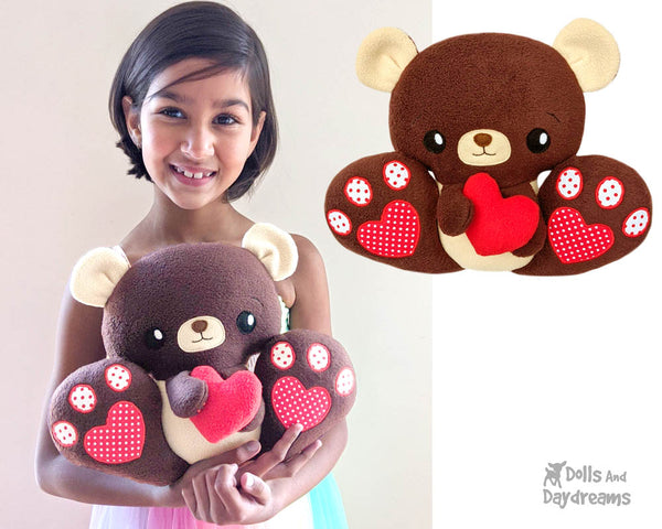 Teddy Bear Sewing Pattern DIY Kawaii Cute ITH Cute Plush Toy by Dolls And Daydreams