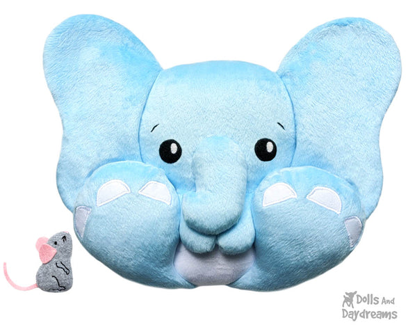 BFF Big Foot Friends Elephant PDF Sewing pattern DIY Kawaii Cute Cute Plush Dumbo Toy by Dolls And Daydreams