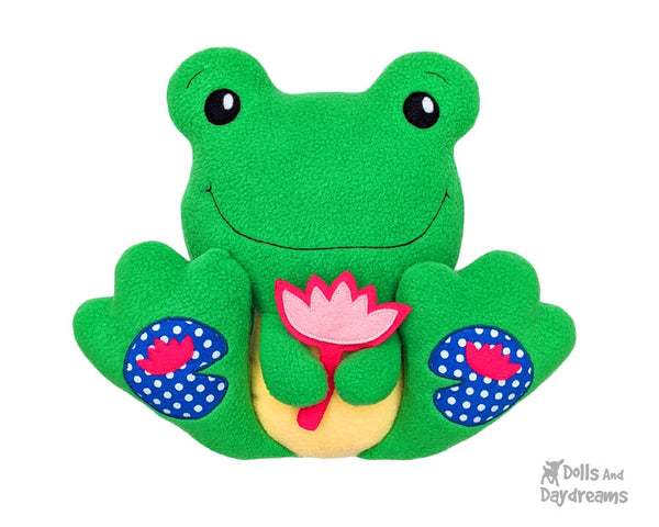 BFF Big Footed Friends Frog Sewing Pattern DIY Kawaii Cute Plush Toy Toad PDF by Dolls And Daydreams