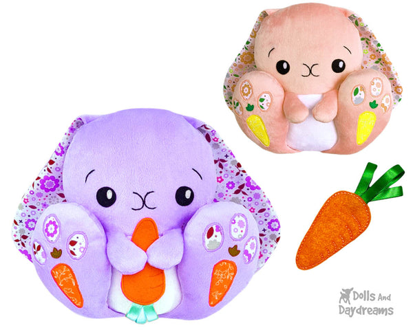 BFF Big Footed Friends Bunny Sewing Pattern DIY Kids Kawaii Cute childrens Easter Rabbit Plush toy by Dolls And Daydreams