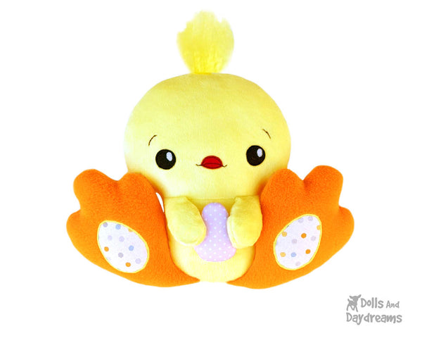 BFF Big Footed Friends Chick Hen Chicken Sewing Pattern DIY Kids Plush toy by Dolls And Daydreams