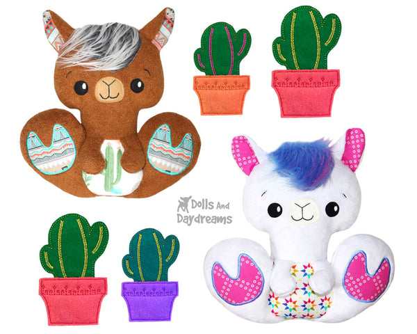 BFF Big Footed Friends Llama PDF Sewing Pattern  boho DIY Kawaii Cute Plushie Alpaca kids Toy by Dolls And Daydreams
