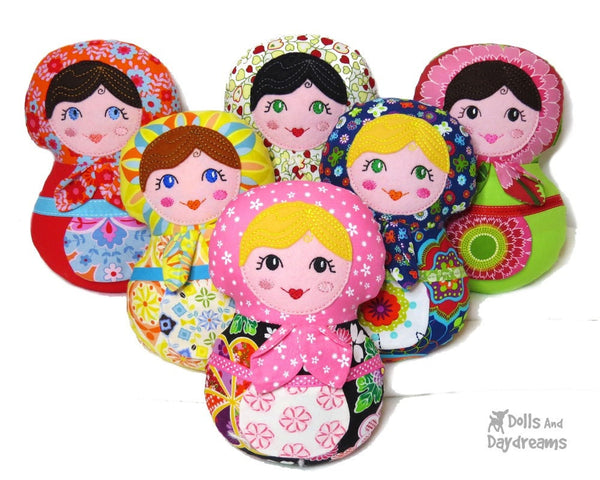 Embroidery Machine Babushka Pattern - Dolls And Daydreams - 1