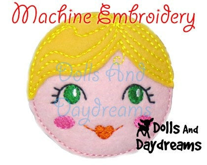 Machine Embroidery Babushka Doll Face Pattern - Dolls And Daydreams - 4