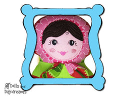 Machine Embroidery Babushka Doll Face Pattern