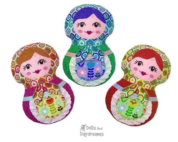 Baby Babushka Sewing Pattern - Dolls And Daydreams - 1