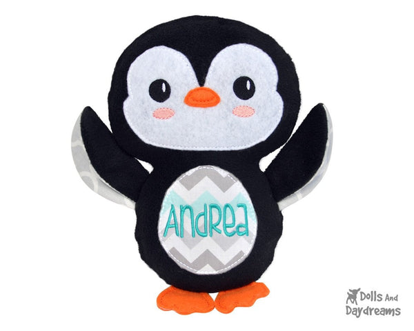 Embroidery Machine Penguin Pattern - Dolls And Daydreams - 6