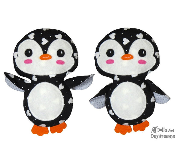 Penguin Sewing Pattern - Dolls And Daydreams - 1