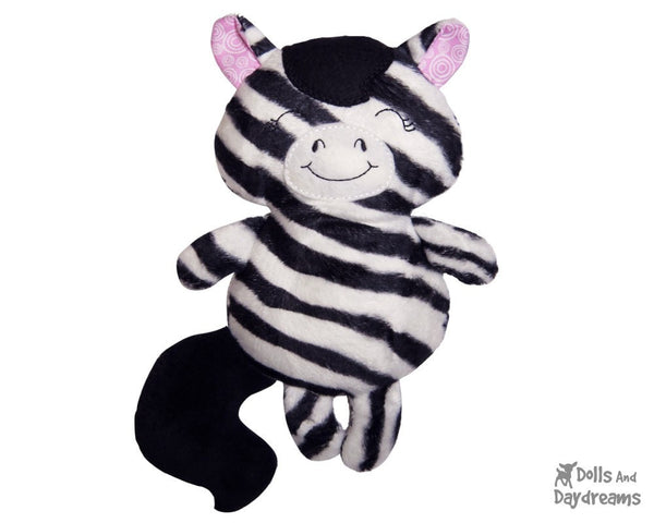 Baby Unicorn Zebra Horse Sewing Pattern - Dolls And Daydreams - 5