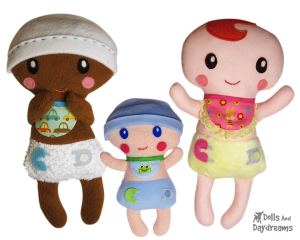 Bitty Bubs Baby Sewing Pattern - Dolls And Daydreams - 1
