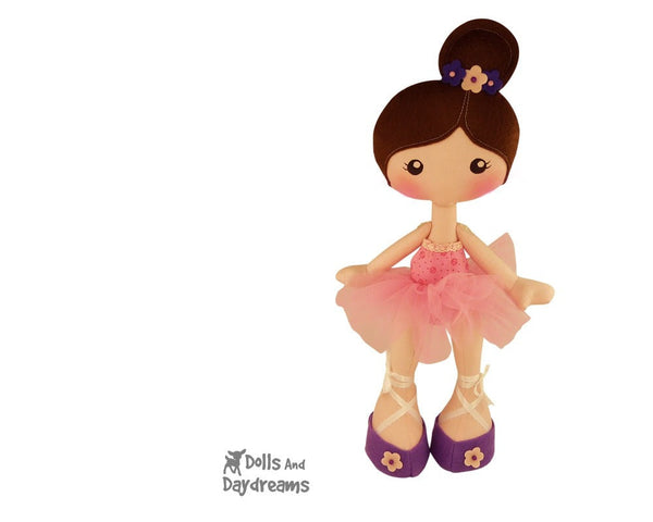 LuLu Ballerina Doll Sewing Pattern - Dolls And Daydreams - 4