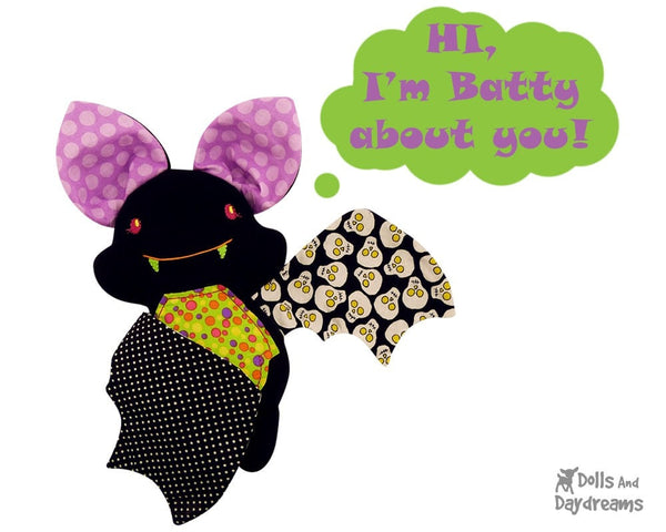 Embroidery Machine Bat Pattern - Dolls And Daydreams - 3