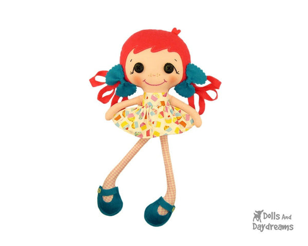 Betsy Buttons Sewing Pattern - Dolls And Daydreams - 1