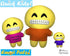 ITH Quick Kids Big Grin Emoji Doll Plush Pattern DIY Machine Embroidery In The Hoop Toy