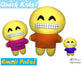 ITH Quick Kids Big Grin Emoji Pattern