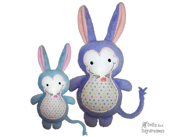 Embroidery Machine Bilby Mole Pattern - Dolls And Daydreams - 6