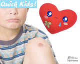 ITH Quick Kids Booboo Heart Pattern Soft Hot and Cold Pack by Dolls And Daydreams
