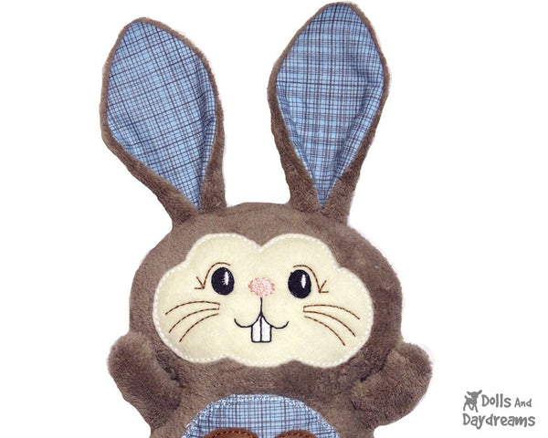 Machine Embroidery Bunny Face - Dolls And Daydreams - 3