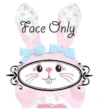 Machine Embroidery Bunny Face
