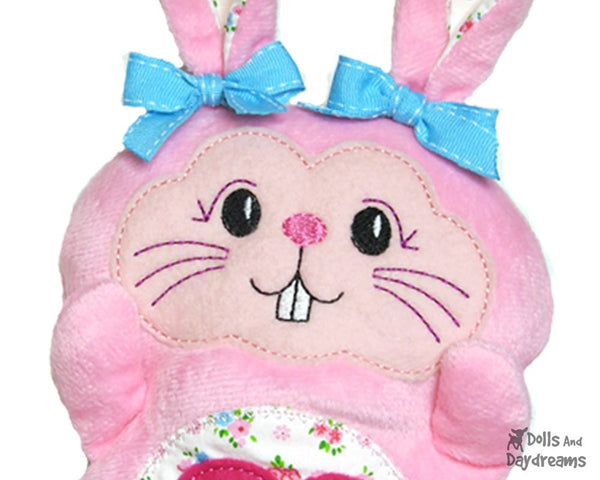 Machine Embroidery Bunny Face - Dolls And Daydreams - 5