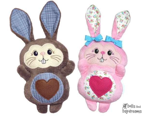 Machine Embroidery Bunny Face - Dolls And Daydreams - 4